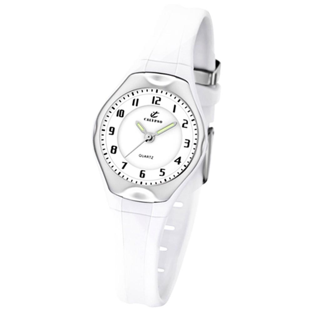 Calypso Jugenduhr Mädchen weiß Analog Calypso Uhren Kollektion UK5163/H