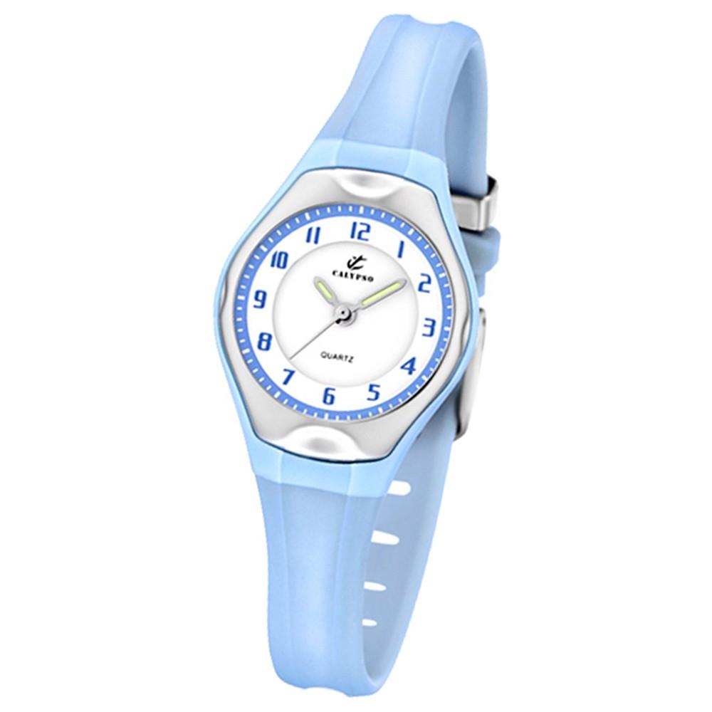Calypso Jugenduhr Mädchen blau Analog Calypso Uhren Kollektion UK5163/M