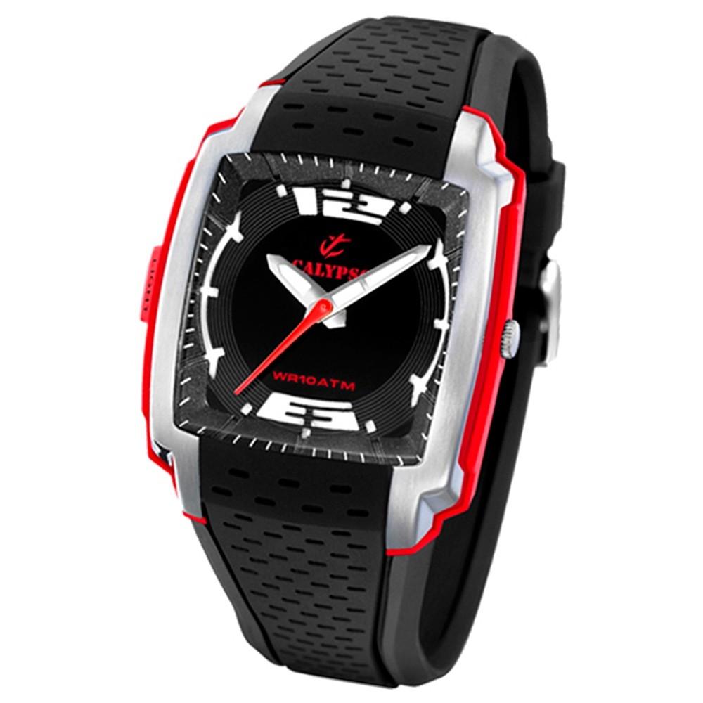 Calypso Herrenuhr schwarz-rot Analog Calypso Uhren Kollektion UK5537/4