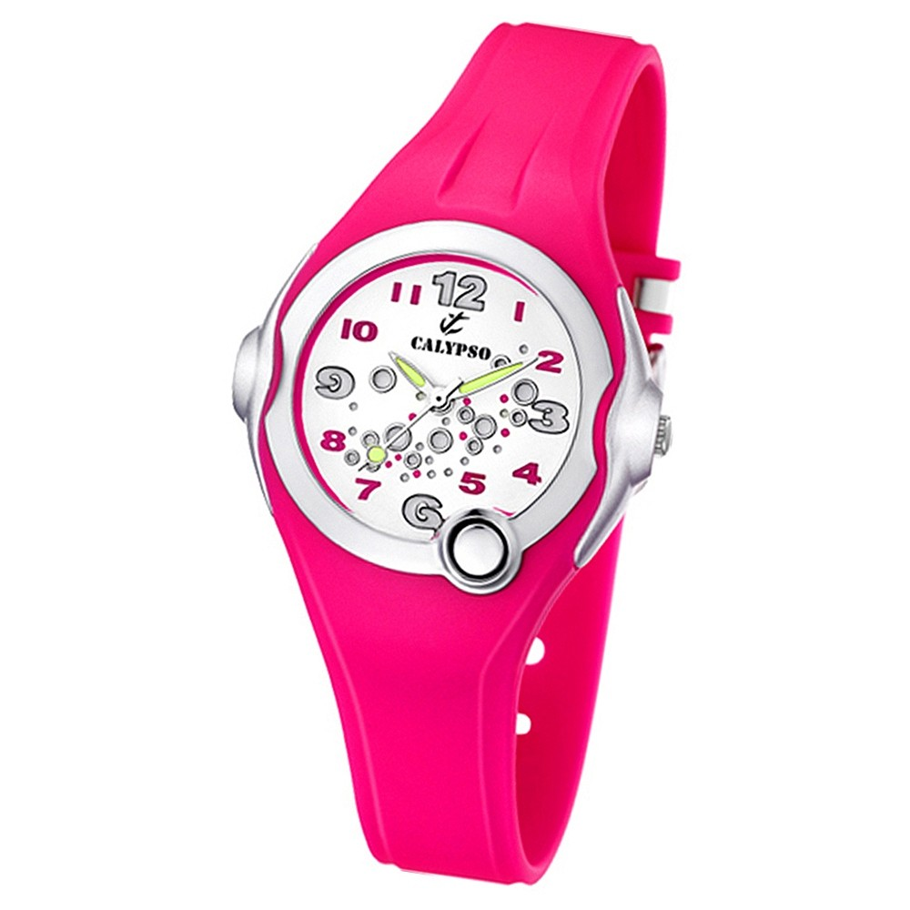 CALYPSO Kinder-Armbanduhr Fashion analog Quarz-Uhr PU pink UK5562/3