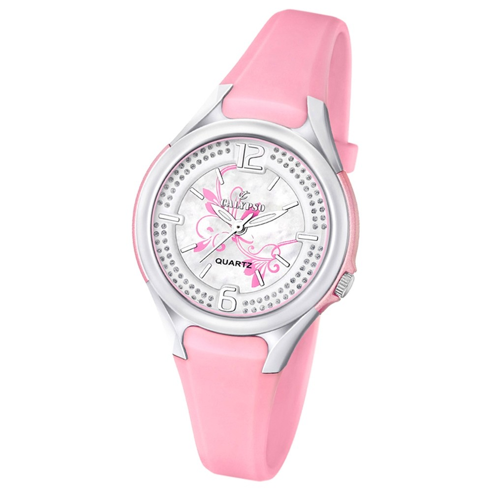 CALYPSO Damen-Armbanduhr Fashion analog Quarz-Uhr PU rosa UK5575/2