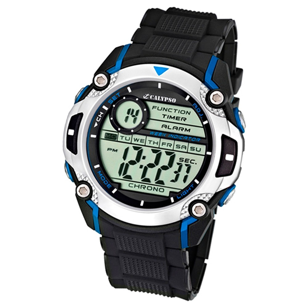 Calypso Herrenchronograph schwarz-blau Digit. Uhren Kollektion UK5577/2
