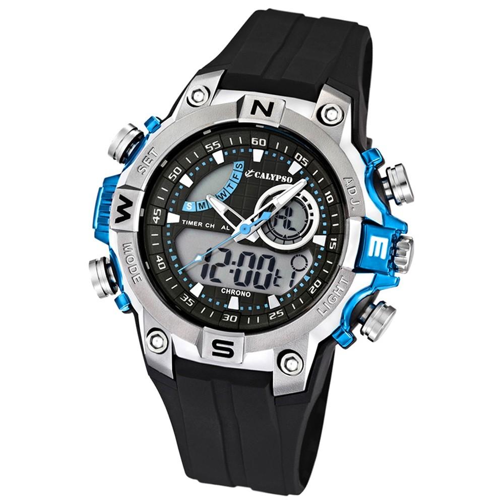 Calypso Herrenchronograph schwarz/blau Uhren Kollektion UK5586/2