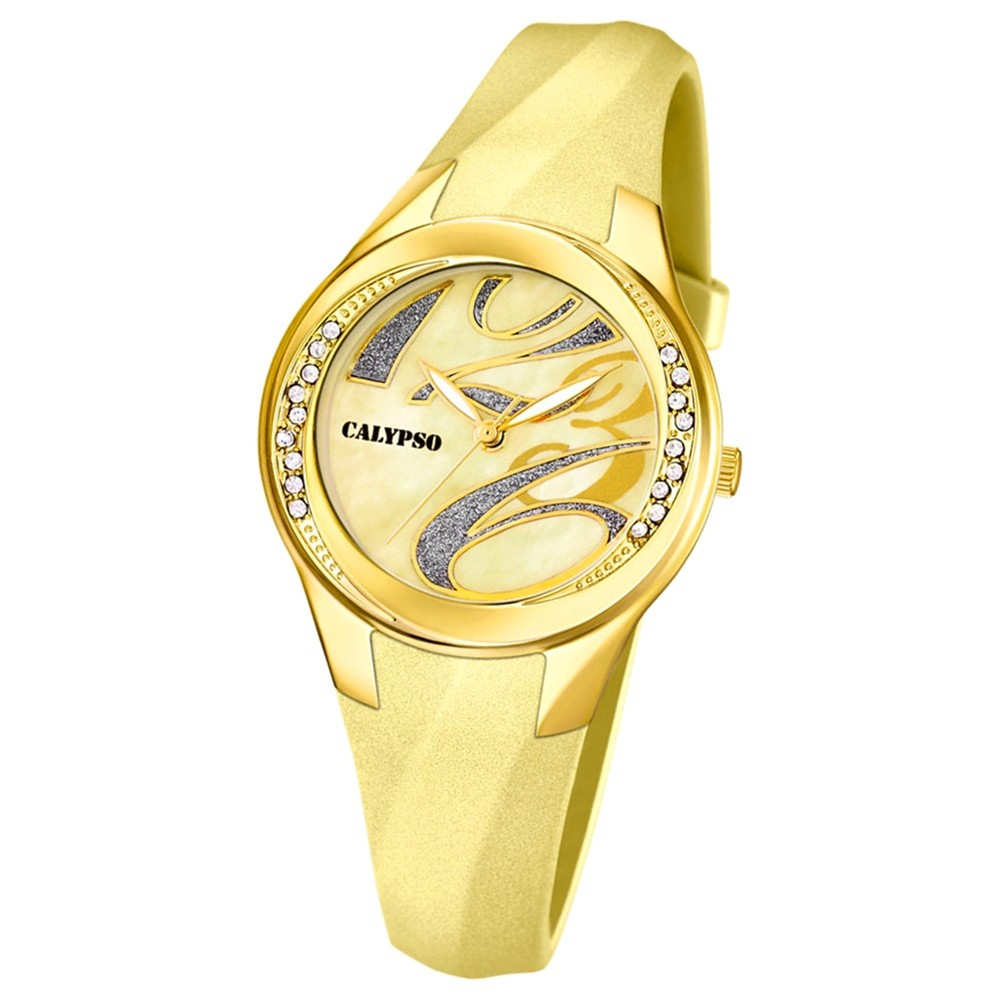 CALYPSO Damen-Uhr - Trend - Analog - Quarz - PU - UK5598/9
