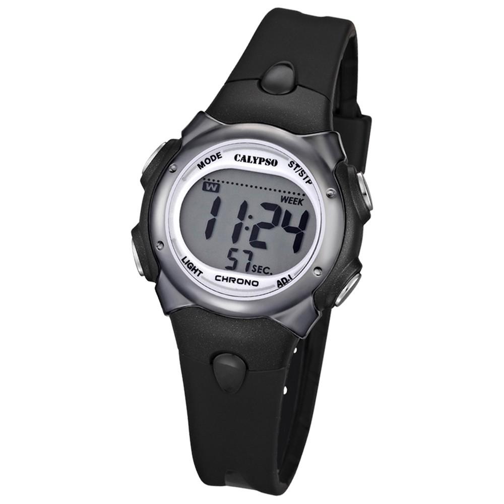 CALYPSO Damen-Armbanduhr Fashion Chronograph Quarz-Uhr PU schwarz UK5609/6