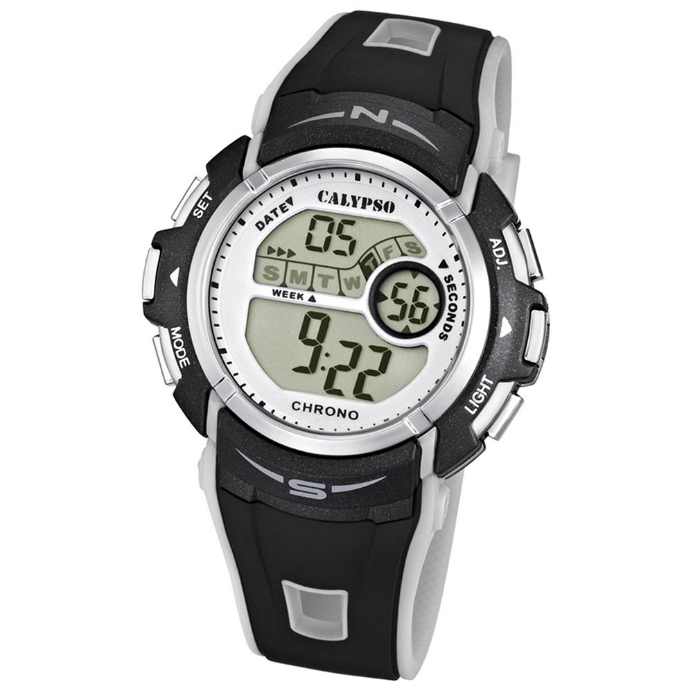Calypso Chronograph Unisex silber-schwarz Digital Uhren UK5610/8