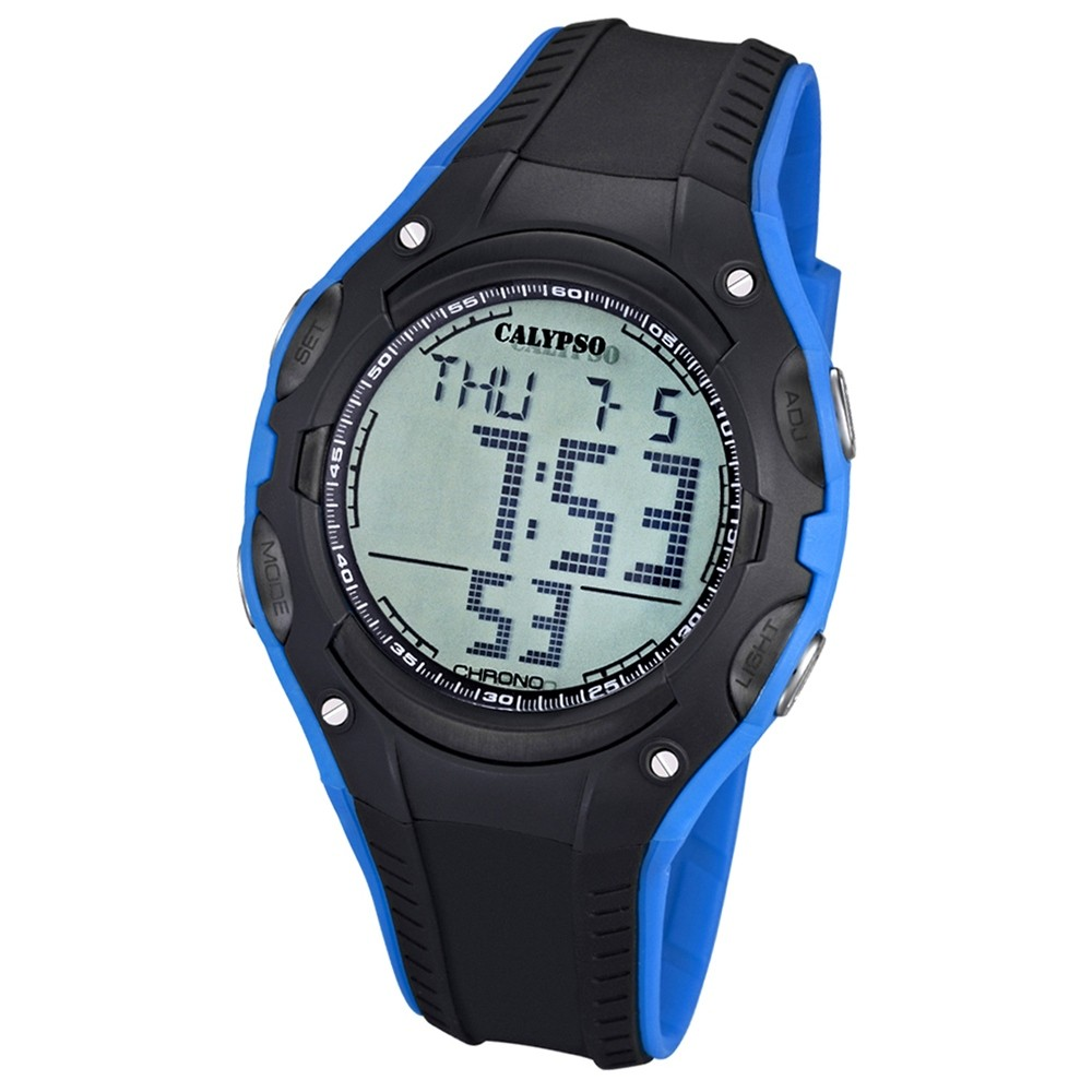 CALYPSO Herren-Armbanduhr Fashion Chronograph Quarz-Uhr schwarz blau UK5614/3