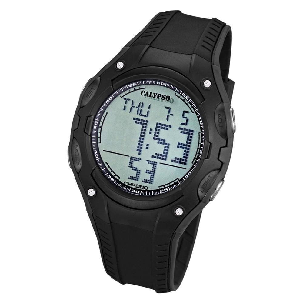 CALYPSO Herren-Armbanduhr Fashion Chronograph Quarz-Uhr PU schwarz UK5614/4