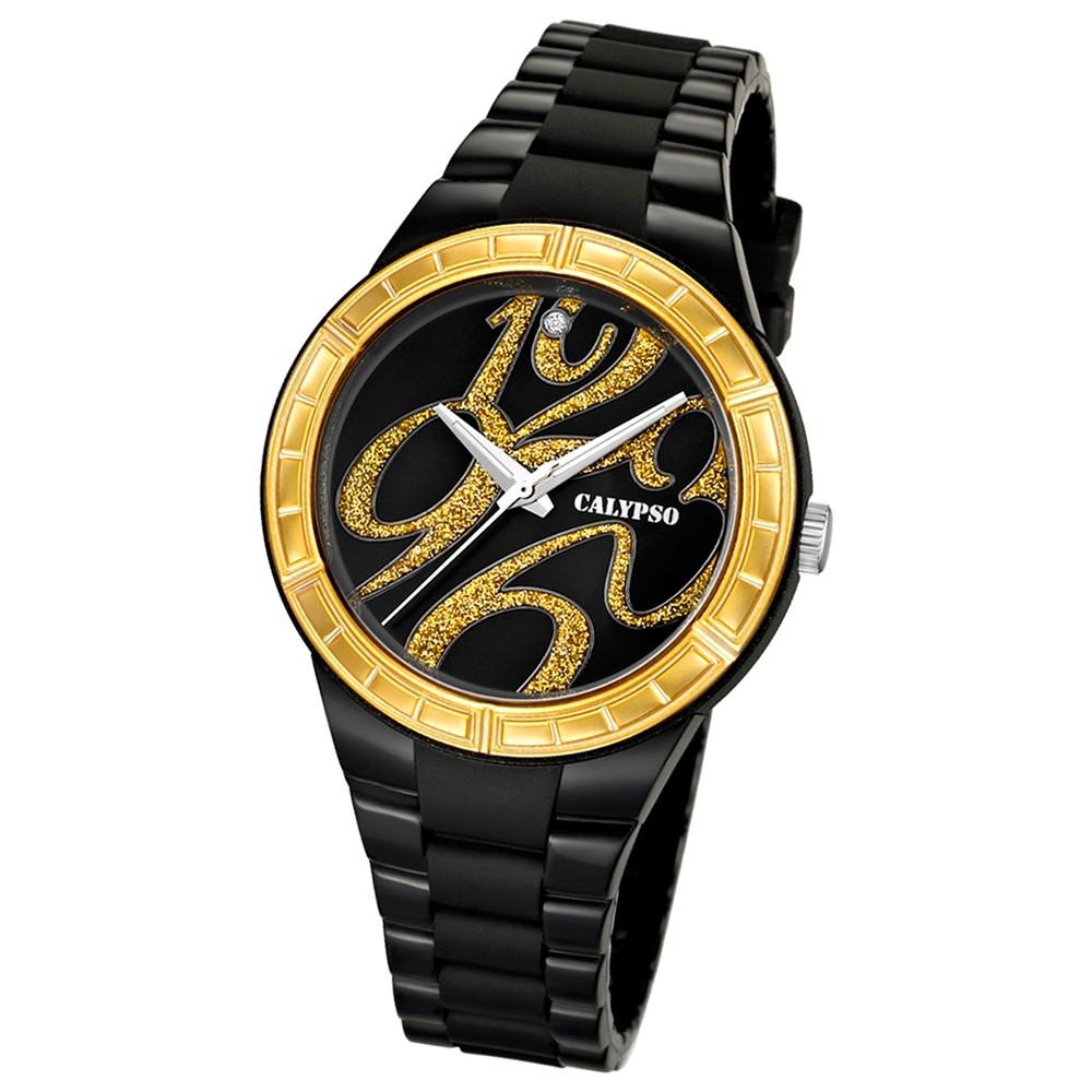Calypso Damen-Armbanduhr Trend analog Quarz PU UK5632/4