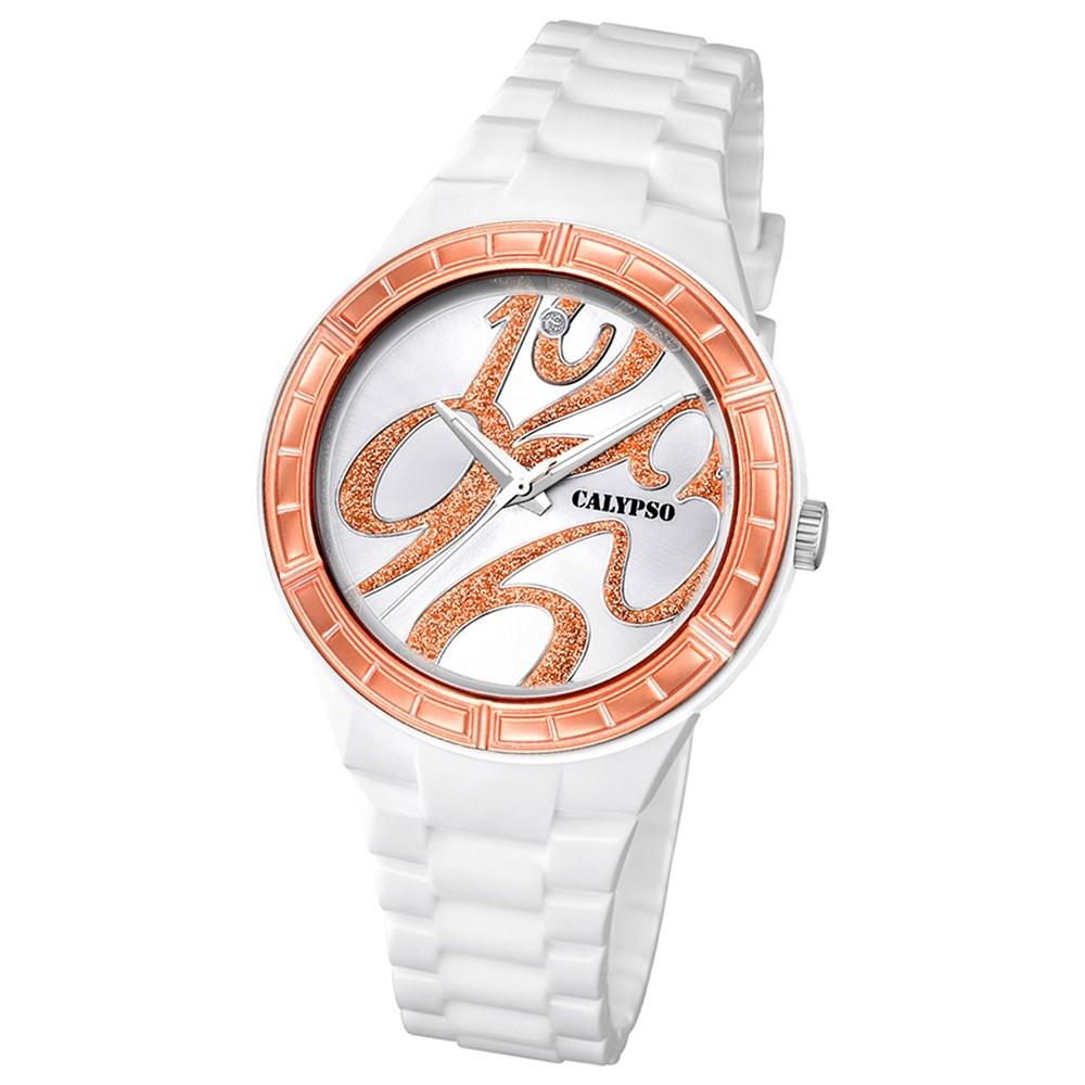 Calypso Damen-Armbanduhr Trend analog Quarz PU UK5632/5