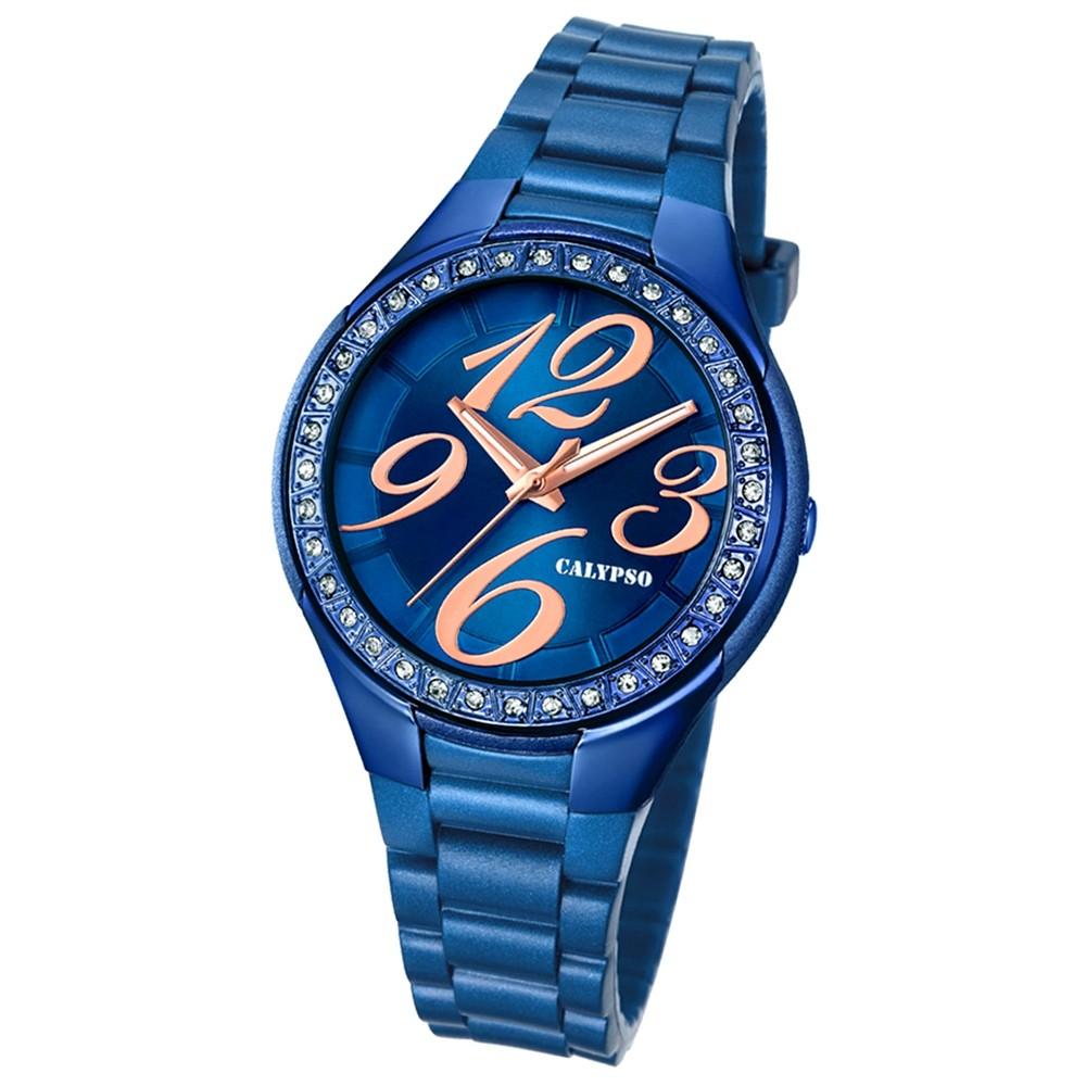 Calypso Damen-Armbanduhr Trend analog Quarz PU blau UK5637/A