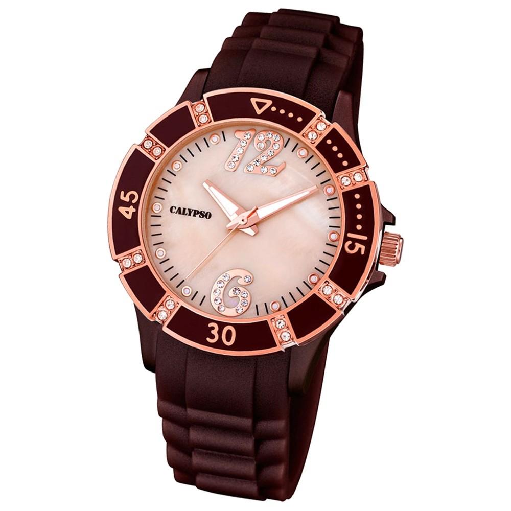 CALYPSO Damen-Uhr - Trend - Analog - Quarz - PU - UK5650/A