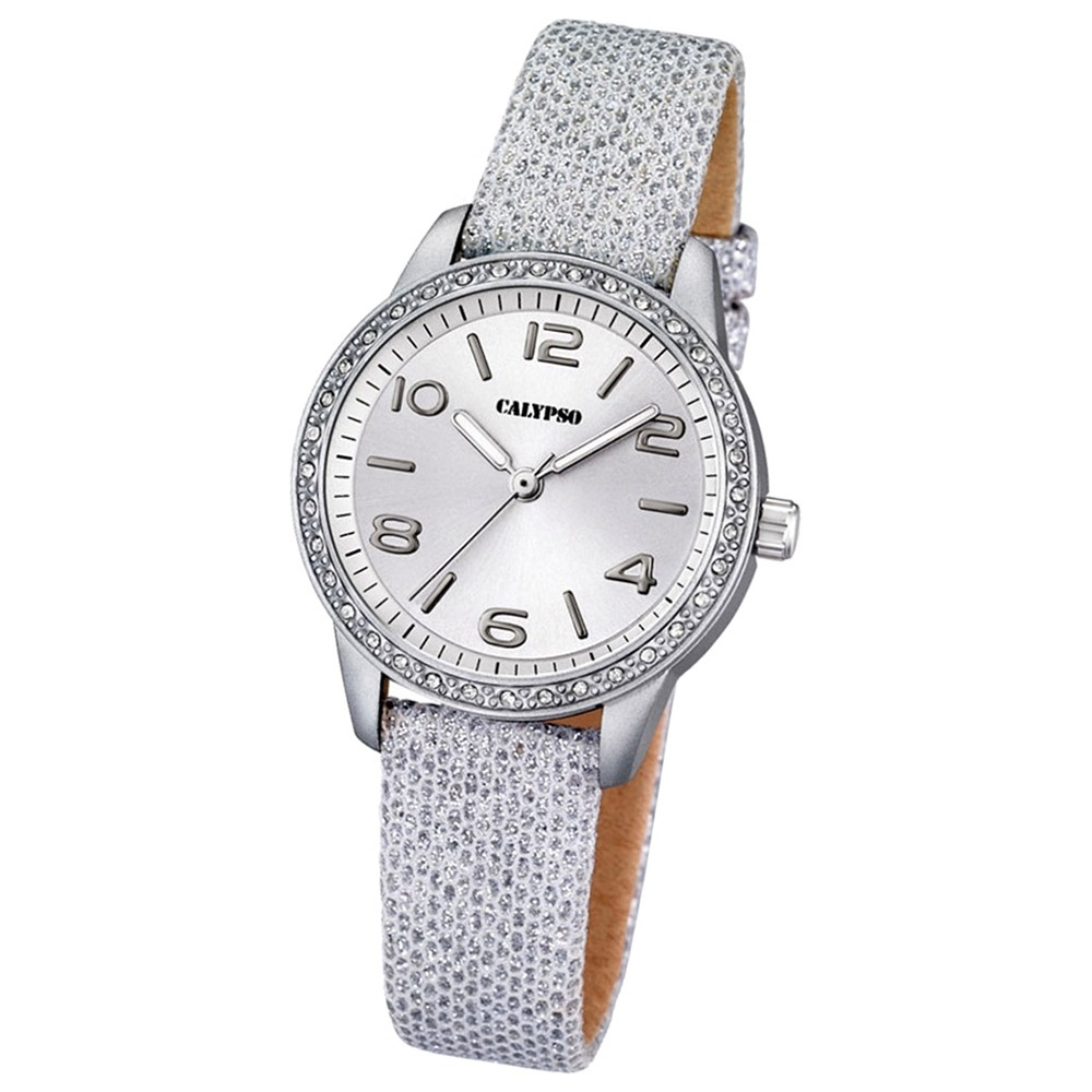 CALYPSO Damen-Uhr - Trend - Analog - Quarz - Leder - UK5652/1