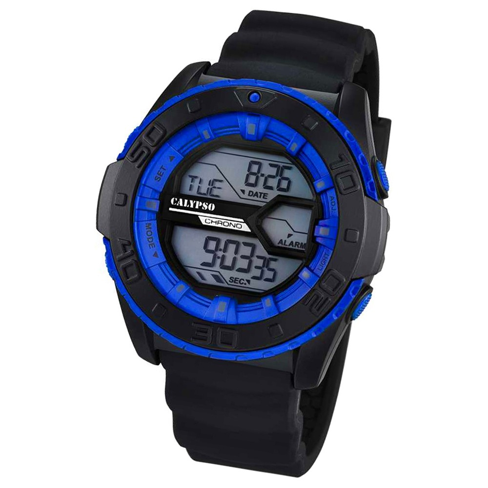 CALYPSO Herren-Uhr - Sport - digital - Quarz - PU - UK5654/2