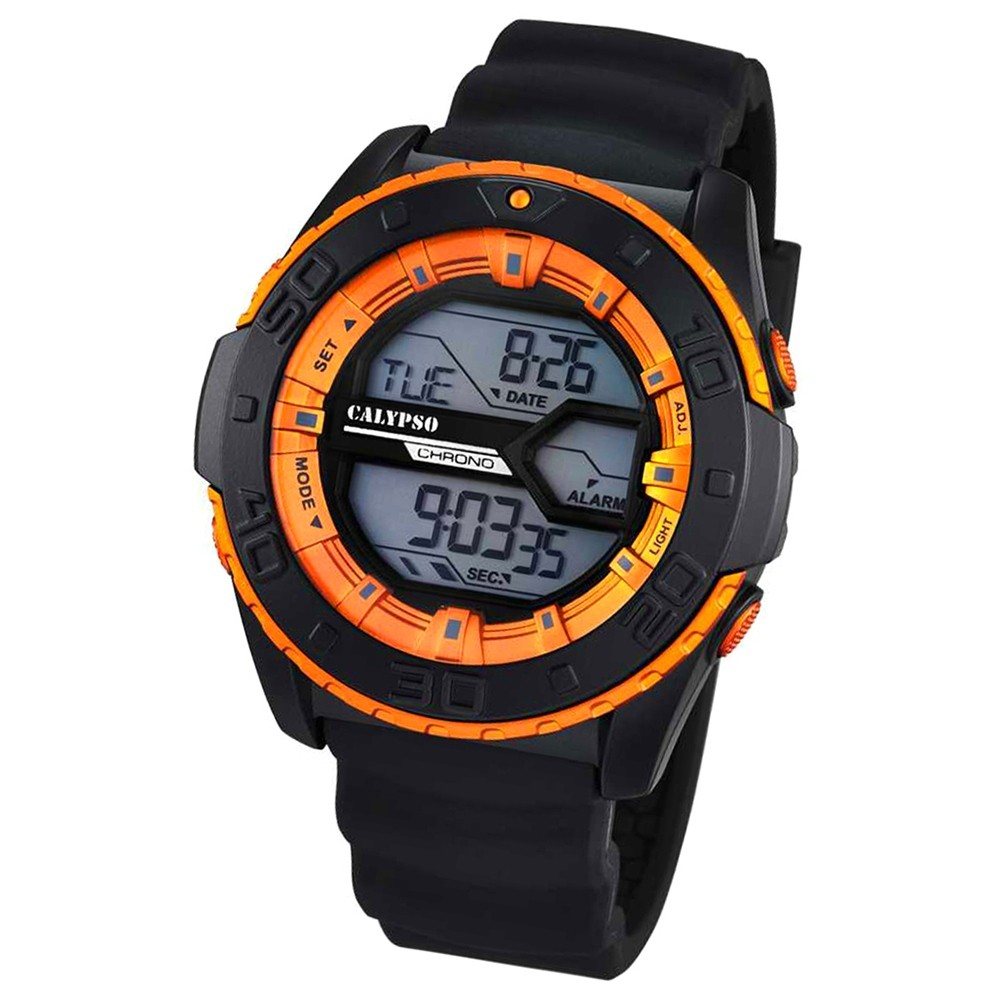 CALYPSO Herren-Uhr - Sport - digital - Quarz - PU - UK5654/3