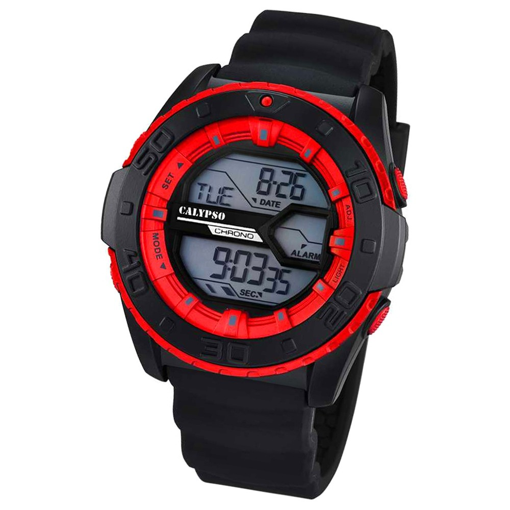 CALYPSO Herren-Uhr - Sport - digital - Quarz - PU - UK5654/4