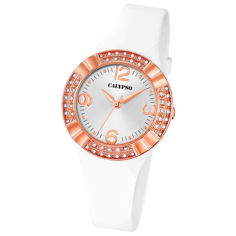 CALYPSO Damen-Uhr - Trend - Analog - Quarz - PU - UK5659/1