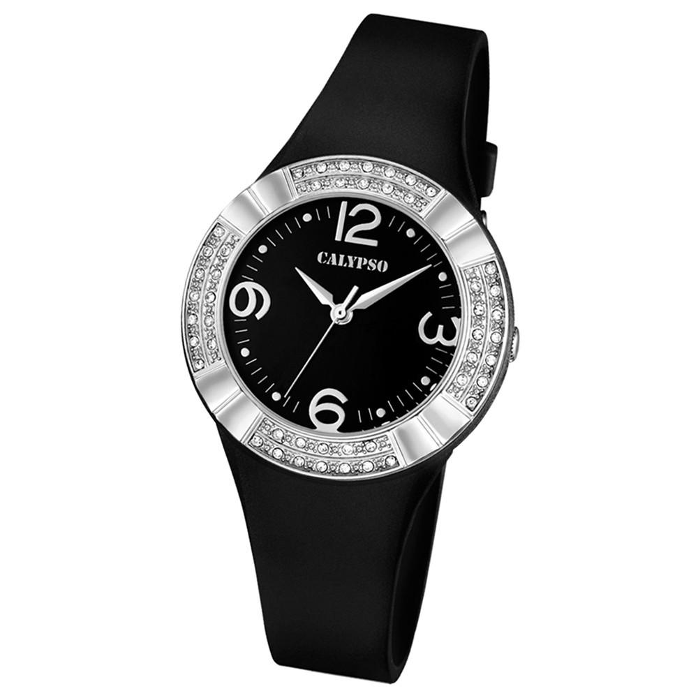 CALYPSO Damen-Uhr - Trend - Analog - Quarz - PU - UK5659/4