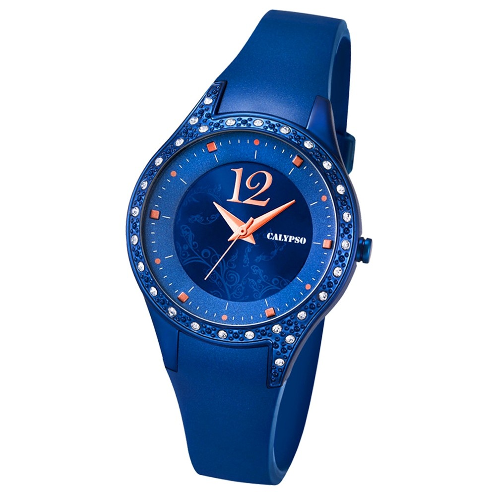 Calypso Damen-Armbanduhr Trend analog Quarz PU blau UK5660/6