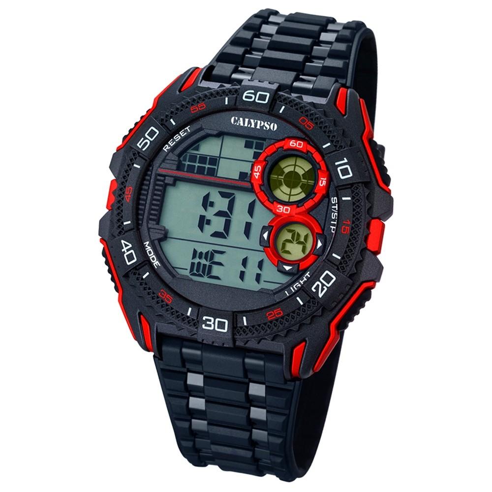 CALYPSO Herren-Uhr - Digital for Man - digital - Quarz - PU - UK5670/5