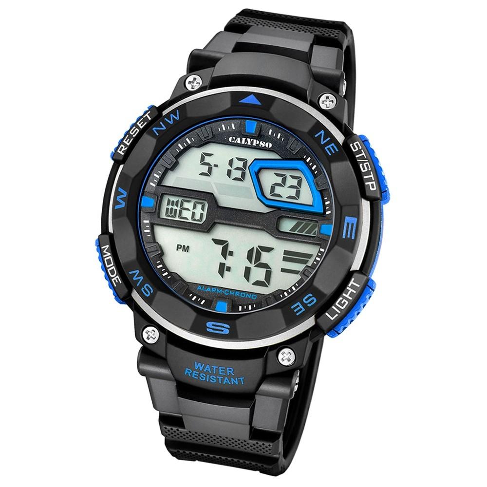 Calypso Herren-Armbanduhr Digital for Man digital Quarz PU schwarz UK5672/5