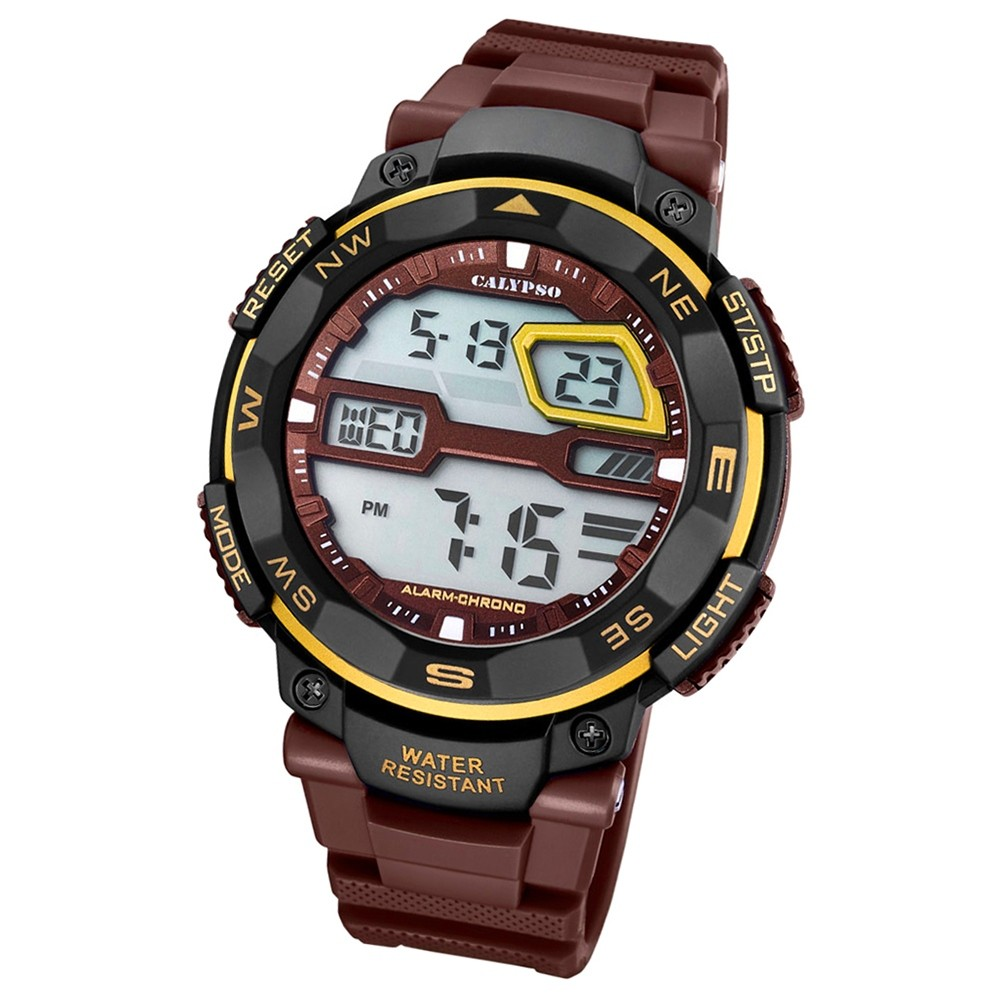 Calypso Herren-Armbanduhr Digital for Man digital Quarz PU braun UK5672/8