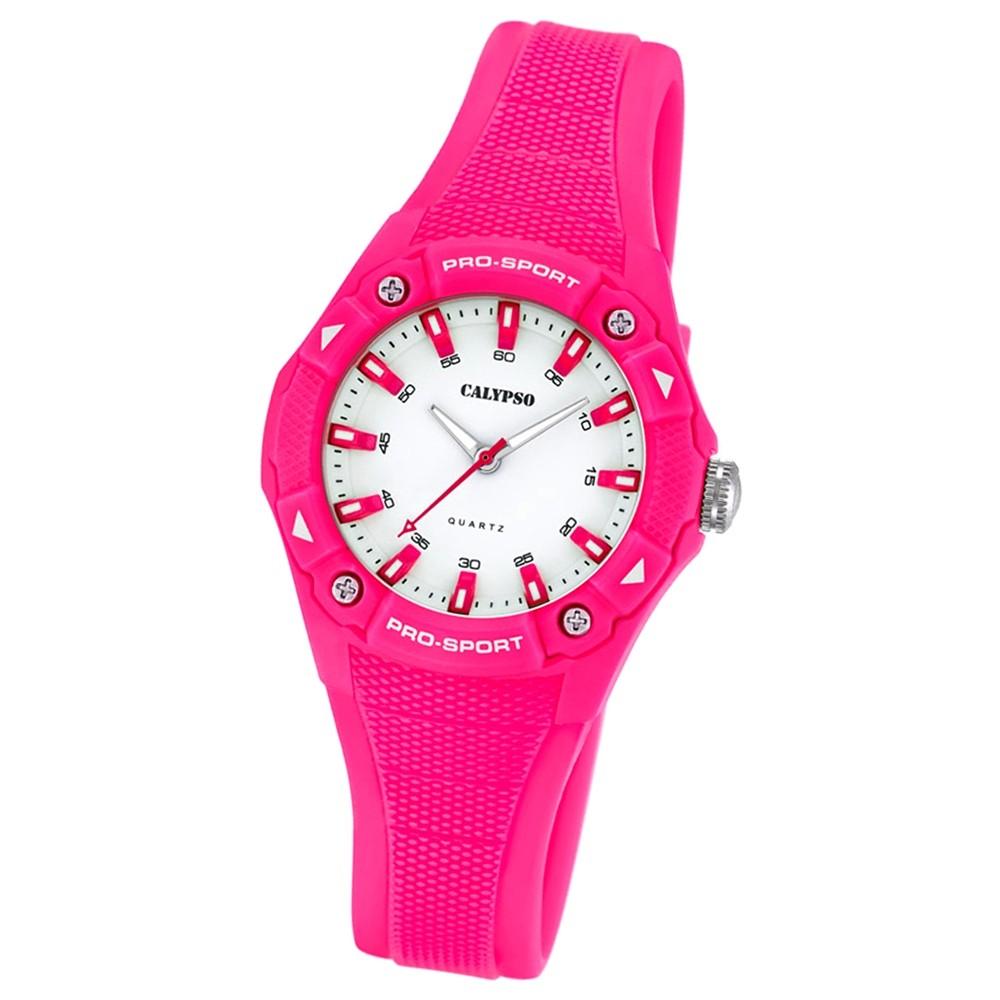 CALYPSO Damen Herren-Armbanduhr Fashion analog Quarz-Uhr PU pink UK5675/3