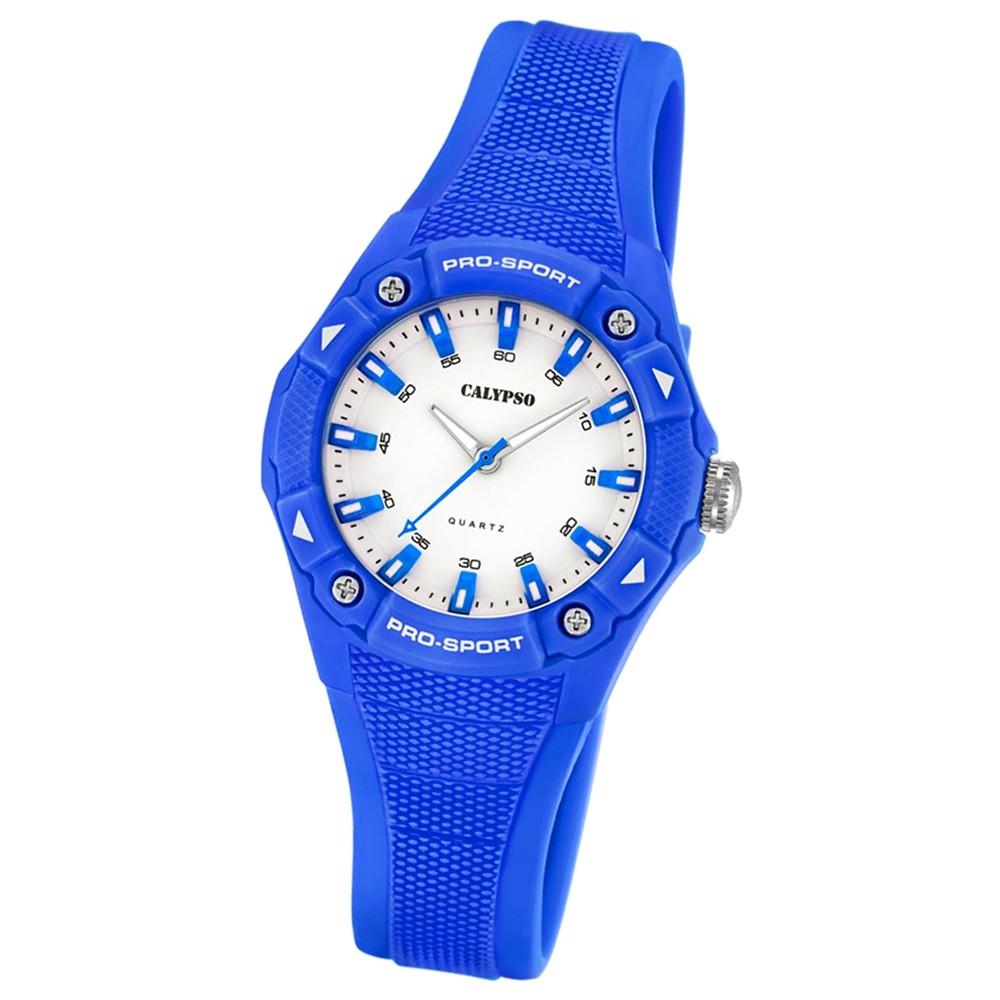 Calypso Damen Herren-Armbanduhr Dame/Boy analog Quarz PU dunkelblau UK5675/5