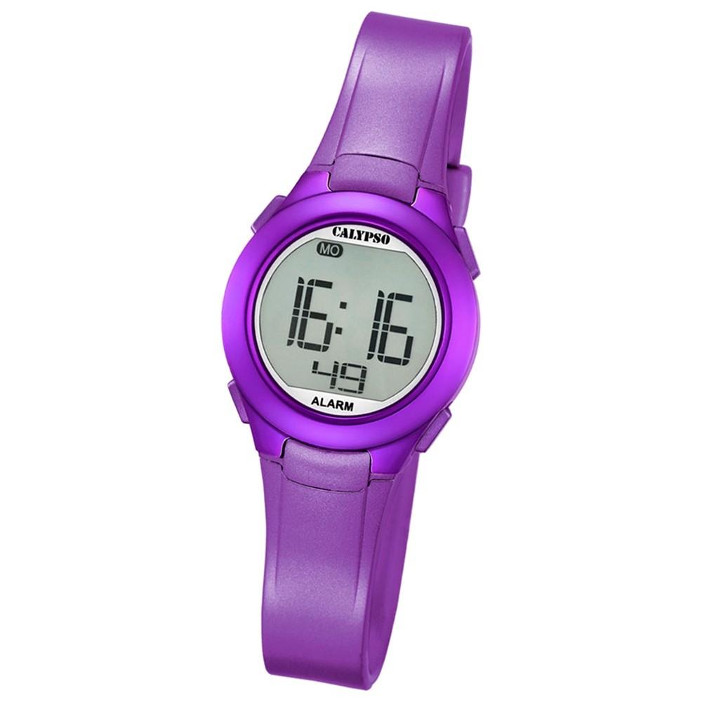 Calypso Damen-Armbanduhr Dame/Boy digital Quarz PU lila UK5677/2