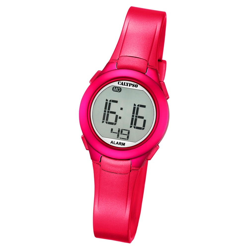 Calypso Damen-Armbanduhr Dame/Boy digital Quarz PU pink UK5677/4