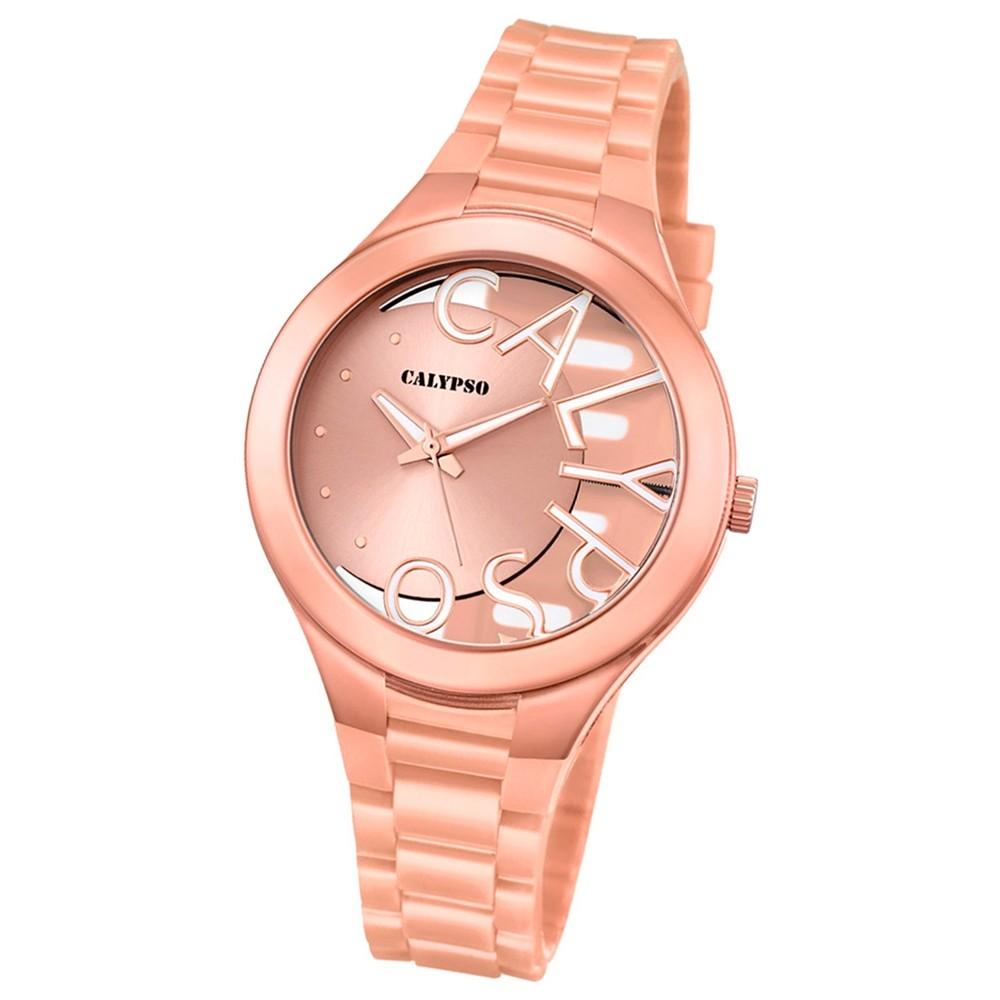 Calypso Damen-Armbanduhr Trendy analog Quarz PU kupfer UK5678/2