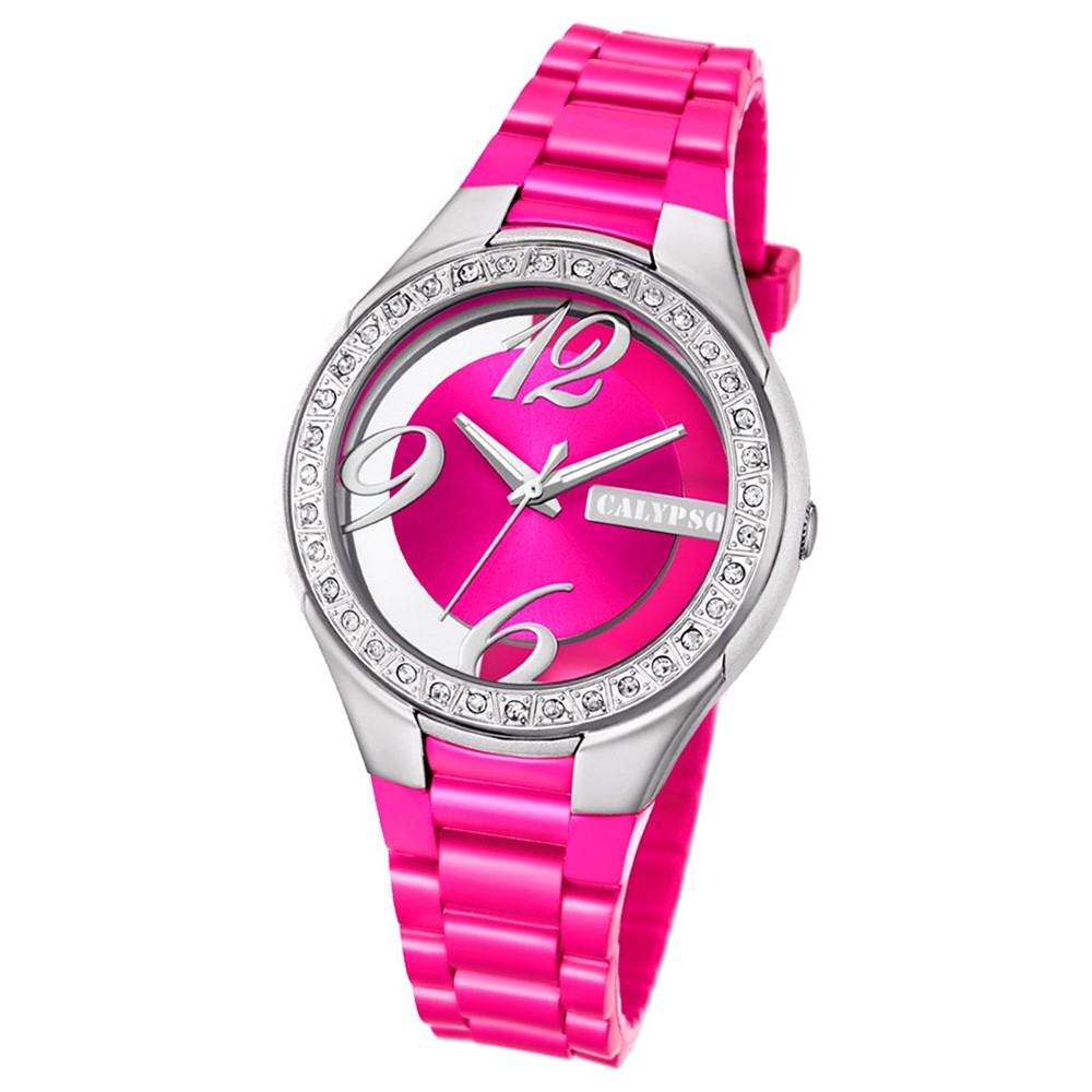 Calypso Damen-Armbanduhr Trendy analog Quarz PU pink UK5679/3