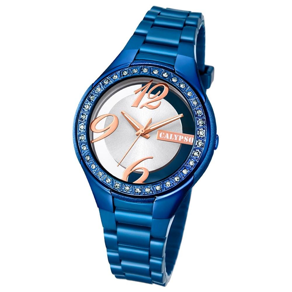 Calypso Damen-Armbanduhr Trendy analog Quarz PU blau UK5679/D