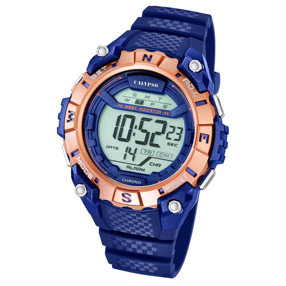 Calypso Herren-Armbanduhr Digital for Man digital Quarz PU blau UK5683/7