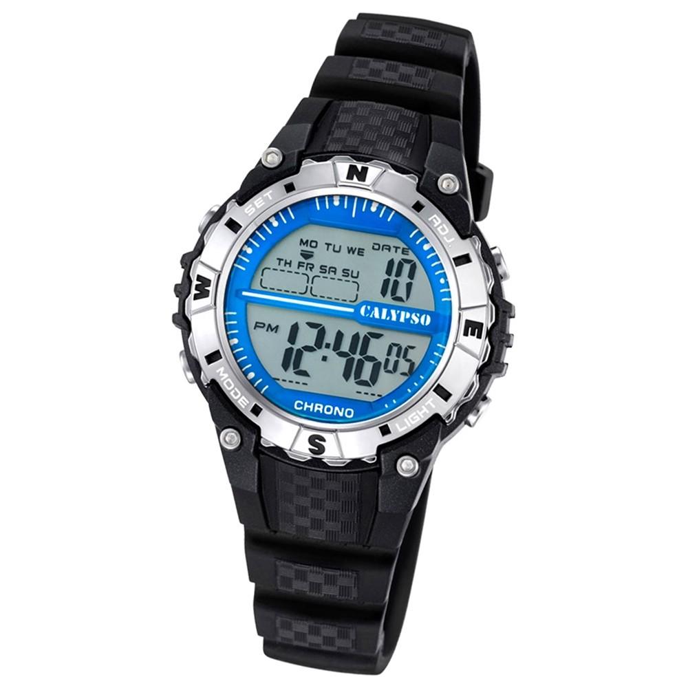 Calypso Damen Herren-Armbanduhr Dame/Boy digital Quarz PU schwarz UK5684/1