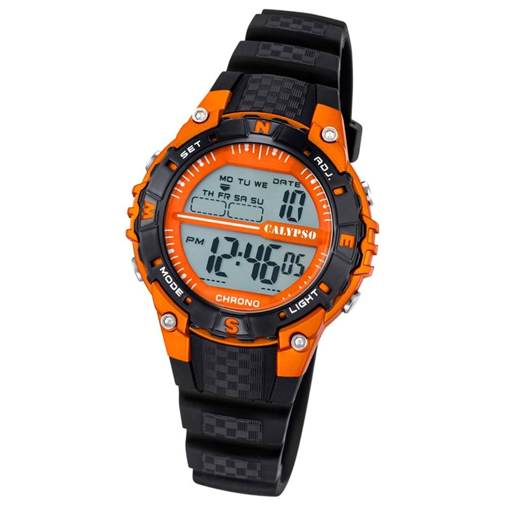 Calypso Damen Herren-Armbanduhr Dame/Boy digital Quarz PU schwarz UK5684/7