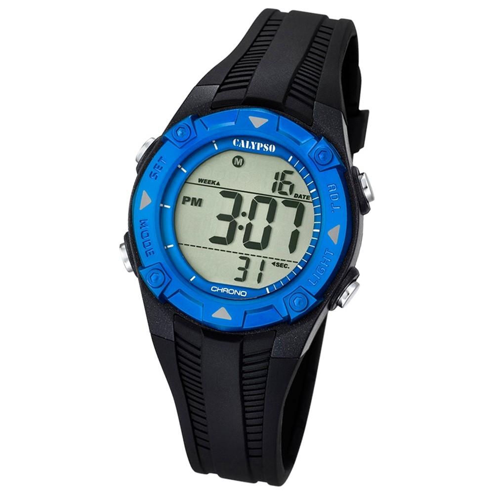 CALYPSO Kinder-Armbanduhr Fashion Chronograph Quarz-Uhr PU schwarz UK5685/1