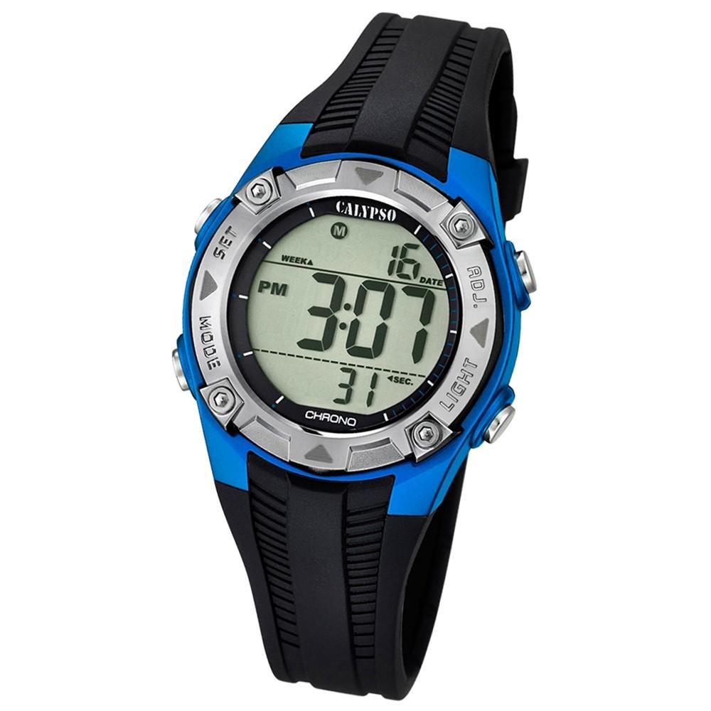 CALYPSO Kinder-Armbanduhr Fashion Chronograph Quarz-Uhr PU schwarz UK5685/5