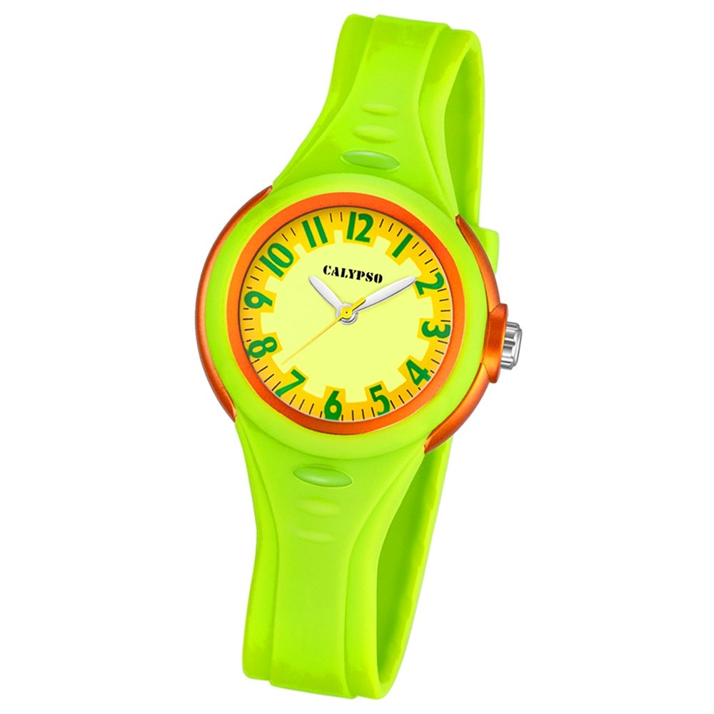 CALYPSO Kinder-Armbanduhr Fashion analog Quarz-Uhr PU grün UK5686/1