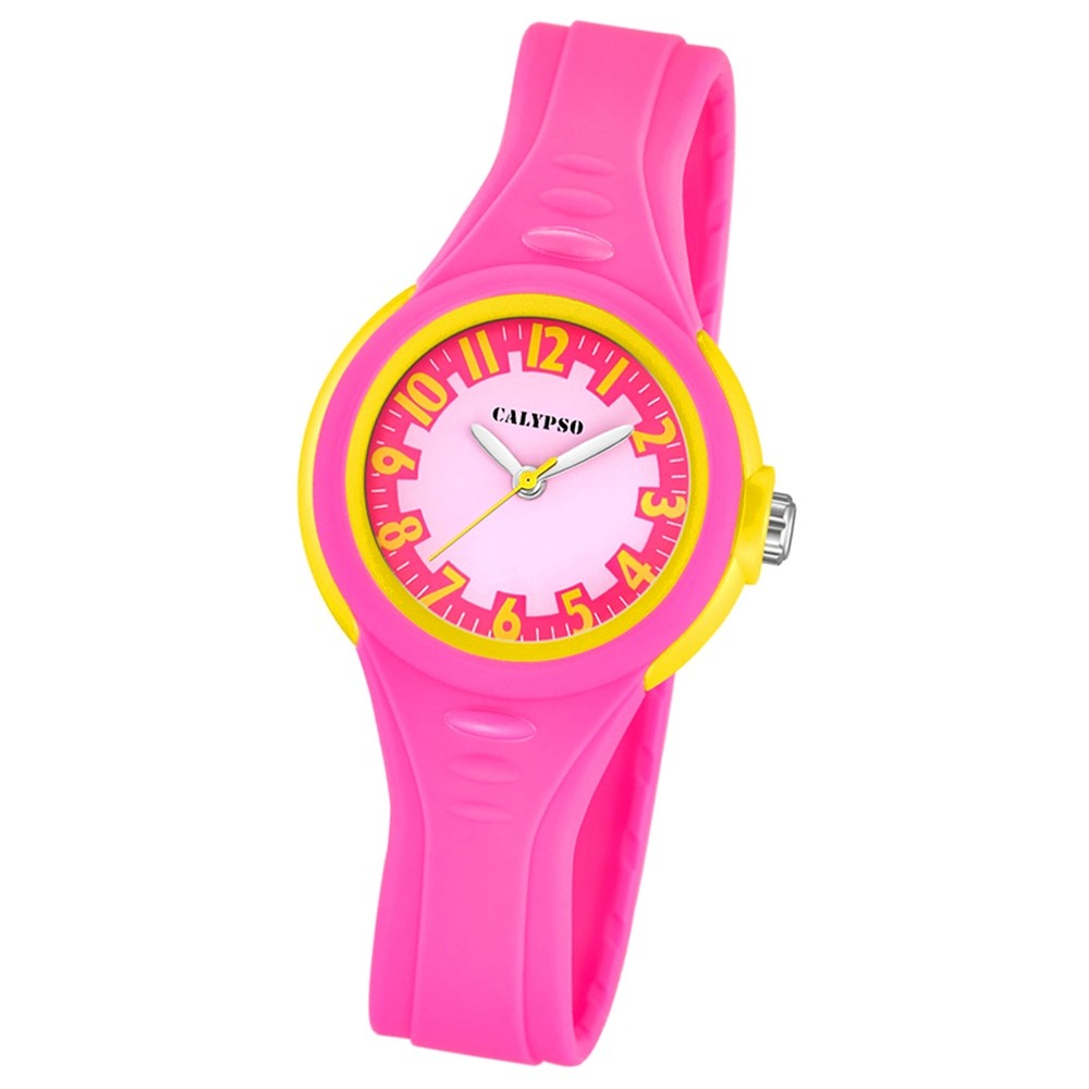 CALYPSO Kinder-Armbanduhr Fashion analog Quarz-Uhr PU pink UK5686/3