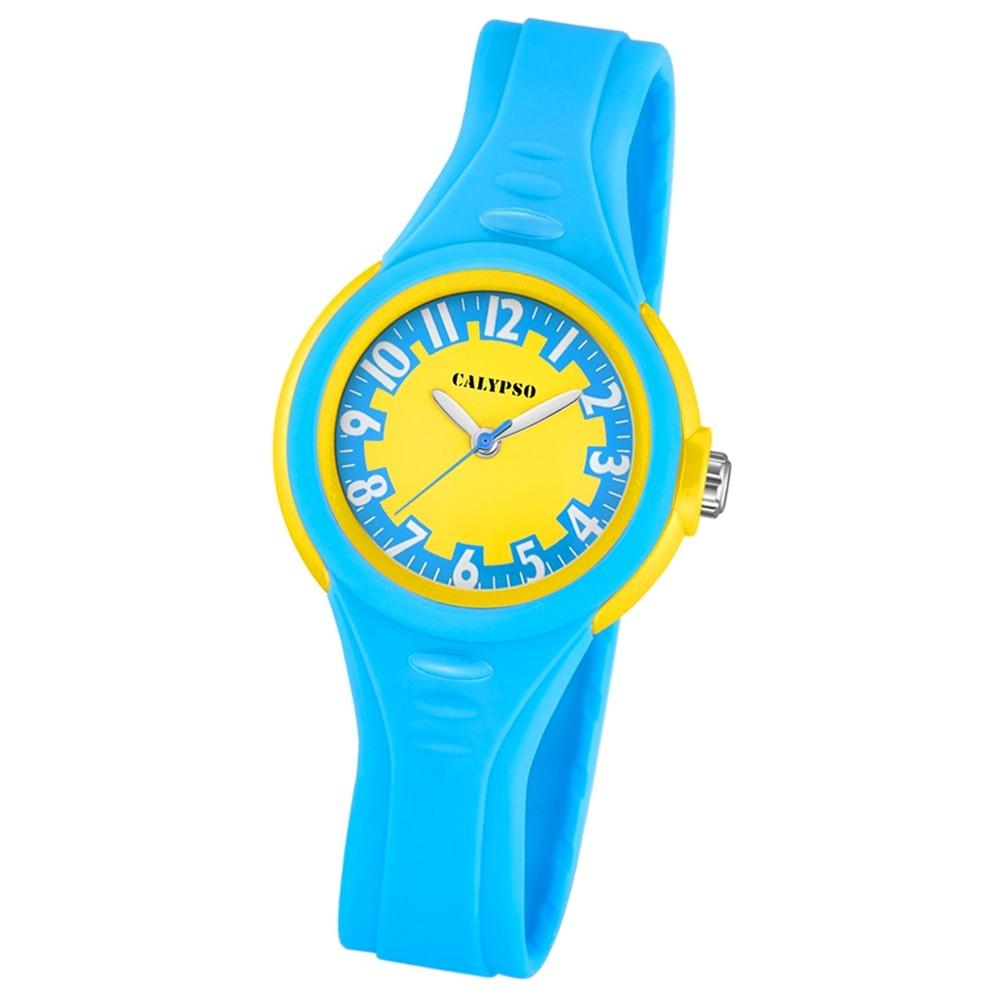 CALYPSO Kinder-Armbanduhr Fashion analog Quarz-Uhr PU blau UK5686/4