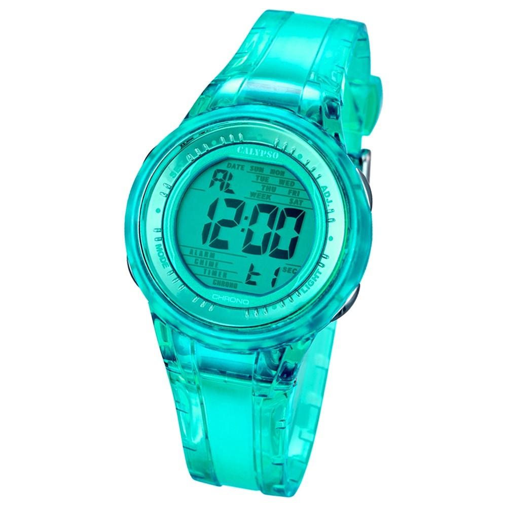 CALYPSO Damen-Armbanduhr Sport Chronograph Quarz-Uhr PU grün UK5688/4