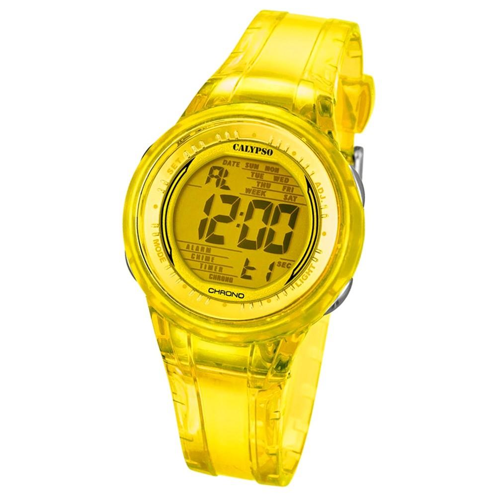 Calypso Damen-Armbanduhr Digital for Woman digital Quarz PU gelb Chrono UK5688/6