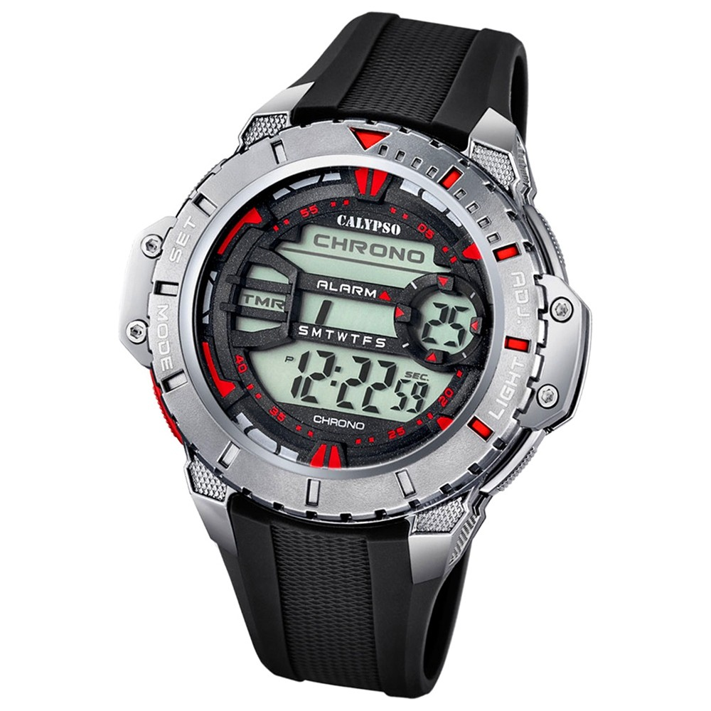 Calypso Herren-Armbanduhr Digital for Man digital Quarz PU schwarz UK5689/5