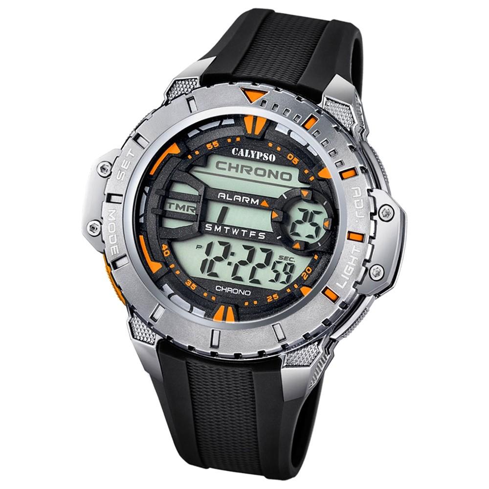 Calypso Herren-Armbanduhr Digital for Man digital Quarz PU schwarz UK5689/6