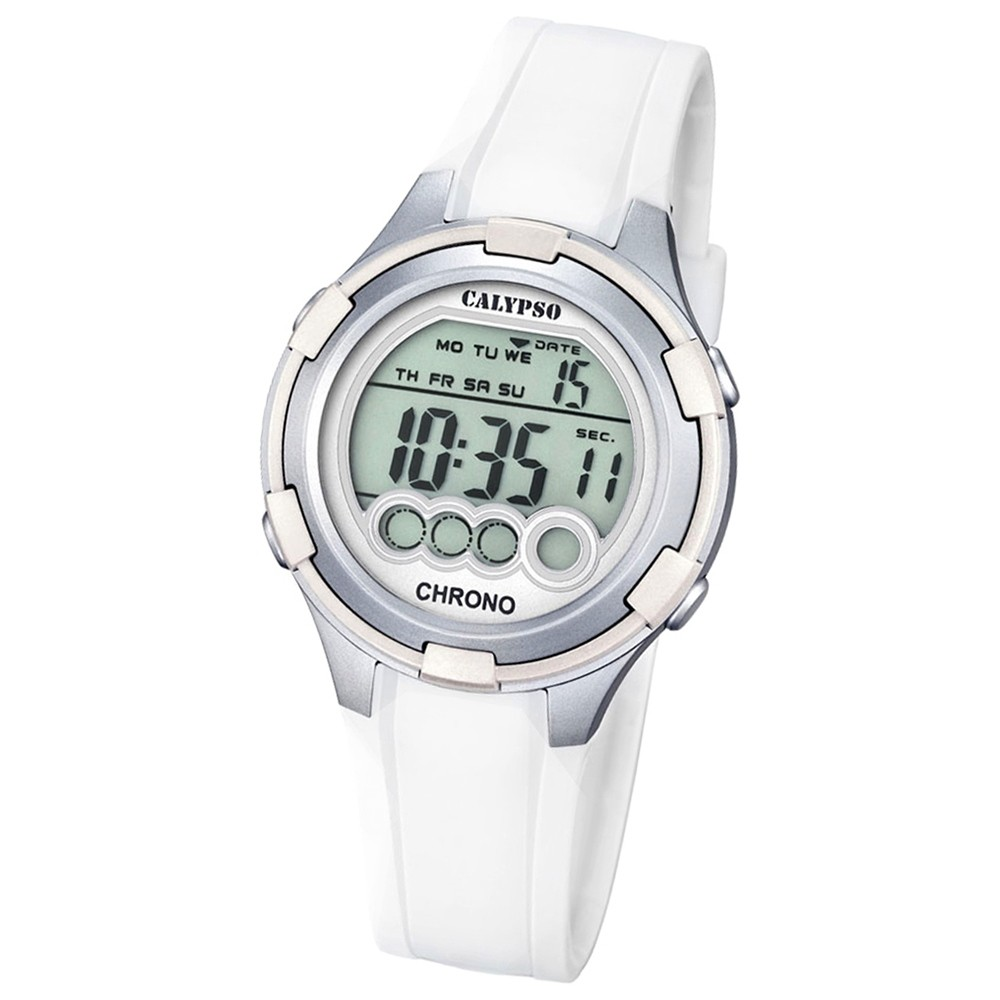 Calypso Damen-Armbanduhr Digital for Woman digital Quarz PU weiß UK5692/1