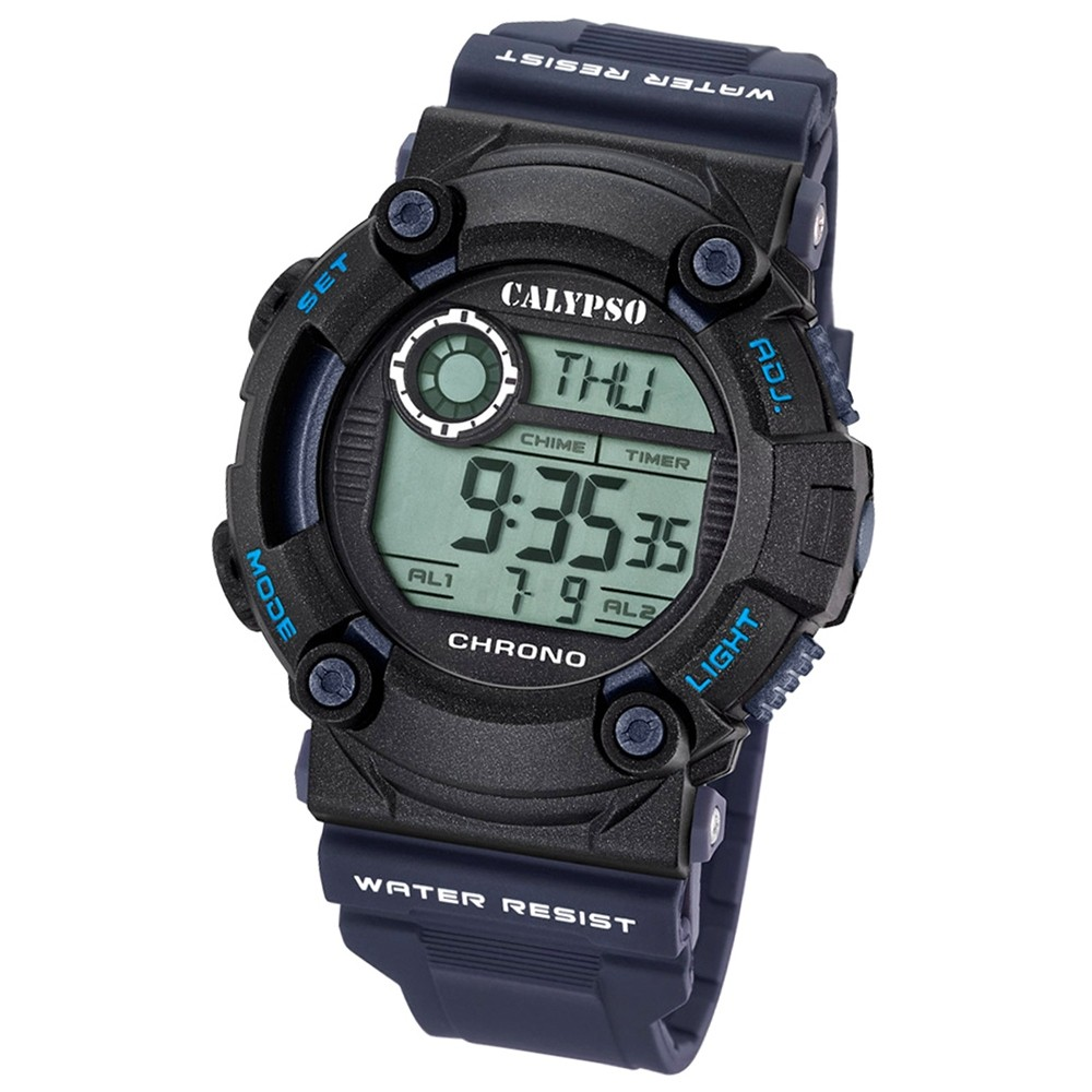 Calypso Herren-Armbanduhr Digital for Man digital Quarz PU blau UK5694/5