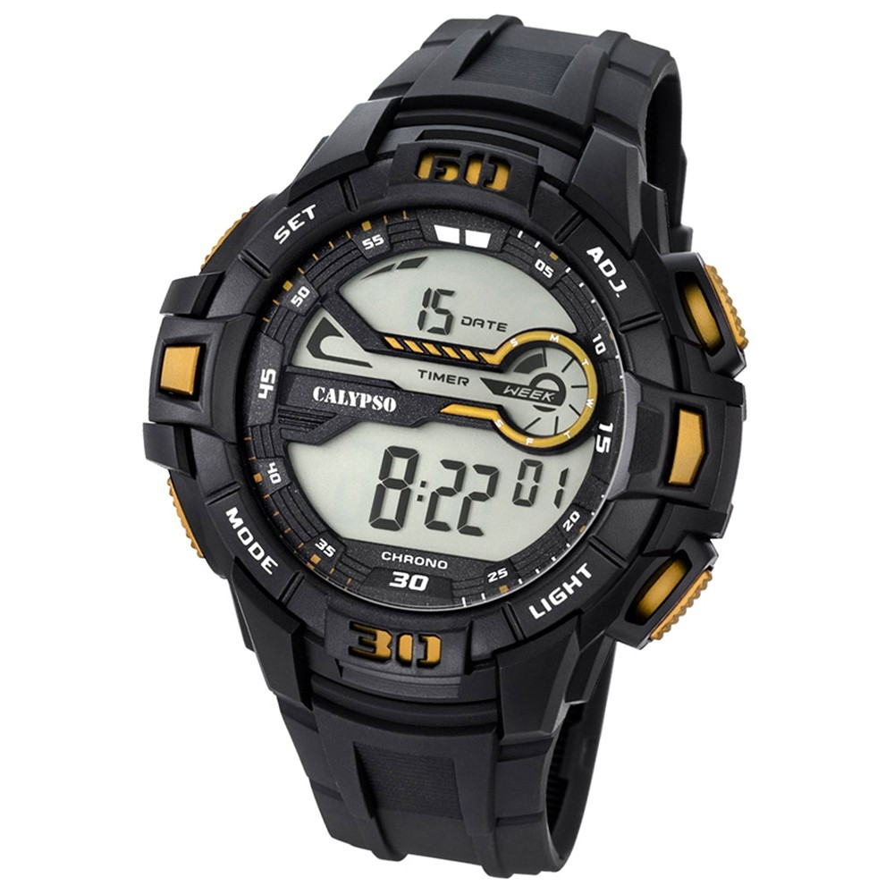 Calypso Herren-Armbanduhr Digital for Man digital Quarz PU schwarz UK5695/4