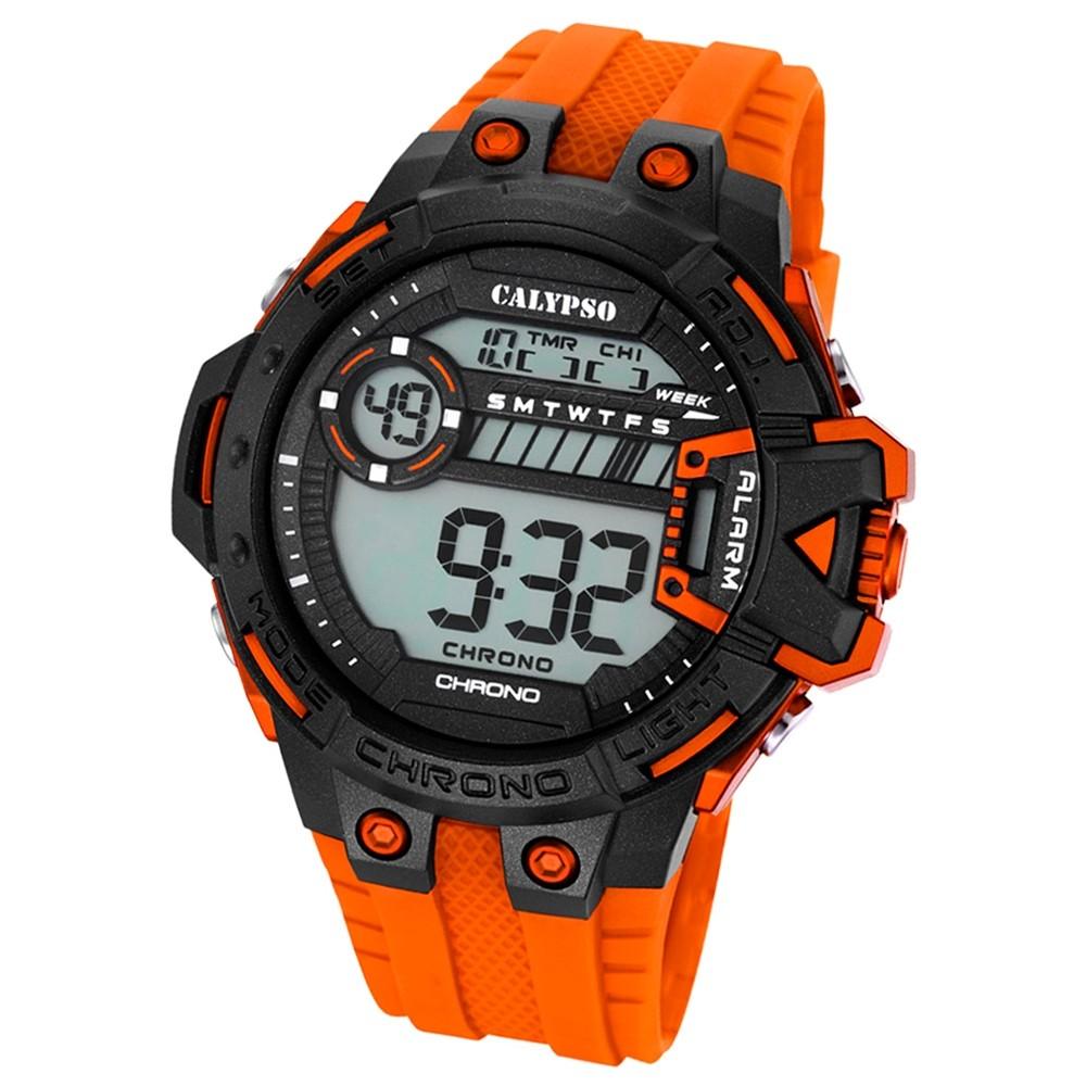 Calypso Herren-Armbanduhr Digital for Man digital Quarz PU orange UK5696/4