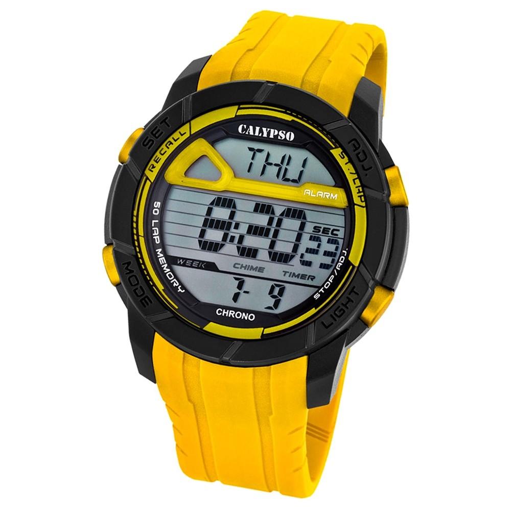 Calypso Herren-Armbanduhr Digital for Man digital Quarz PU gelb UK5697/1